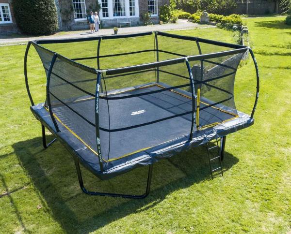 Telstar Elite 15ft x 15ft Square Trampoline and Enclosure Package with Ladder-0