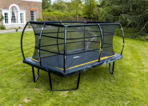 Telstar Elite 8ft x 12ft Rectangle Trampoline and Enclosure Package with Ladder and Cover -13933
