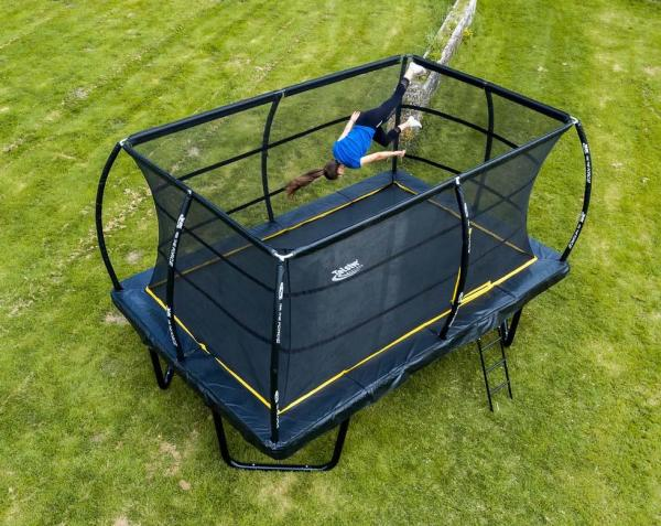 Telstar Elite 8ft x 12ft Rectangle Trampoline and Enclosure Package with Ladder and Cover -0