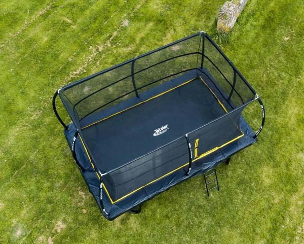 Telstar Elite 8ft x 12ft Rectangle Trampoline and Enclosure Package with Ladder and Cover -13927