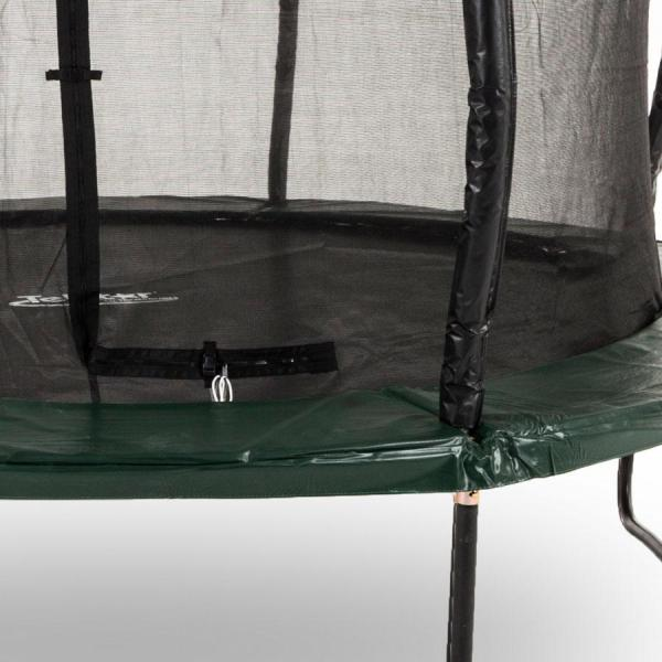 Telstar Jump Capsule Deluxe MK II 14ft x 17ft Oval Trampoline and Enclosure Package with Ladder, and Cover-12010