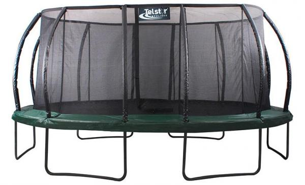 Telstar Jump Capsule Deluxe MK II 14ft x 17ft Oval Trampoline and Enclosure Package with Ladder, and Cover-0