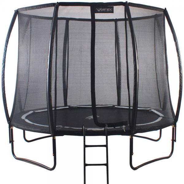 Telstar Vortex Black Edition 10ft Round Trampoline and Enclosure Package -0