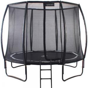 Telstar Vortex Black Edition 8ft Round Trampoline and Enclosure Package -0