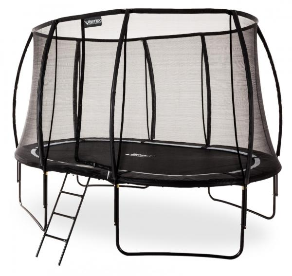 Telstar Vortex Black Edition 7ft x 10ft Oval Trampoline and Enclosure Package -0