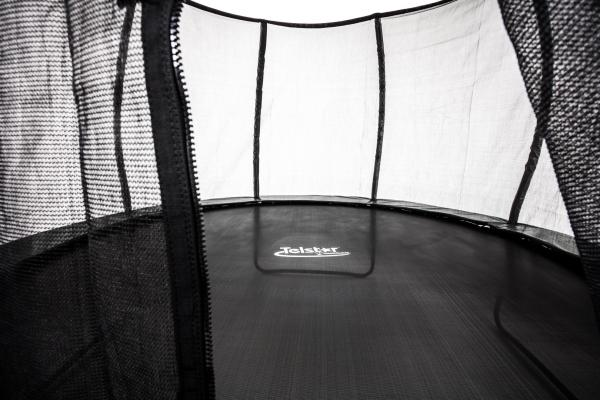 Telstar Vortex Black Edition 9ft x 13ft Oval Trampoline and Enclosure Package-12055