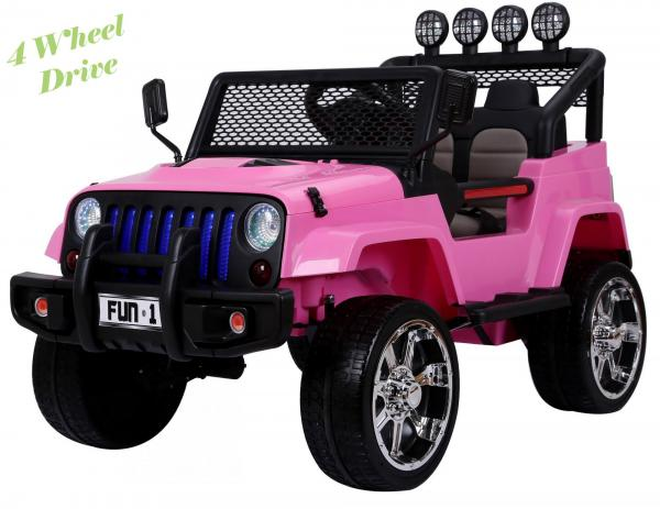 Wrangler Jeep 4x4 style ride on car - Pink 4WD-0