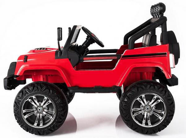 Wrangler Jeep 4x4 style ride on car - side view