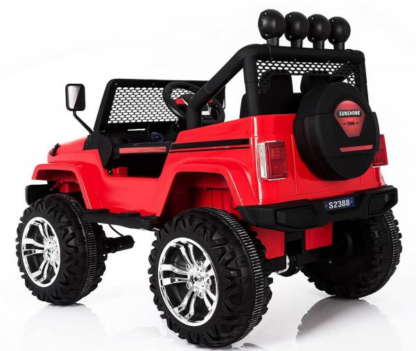 Wrangler Jeep 4x4 style ride on car - rear side view