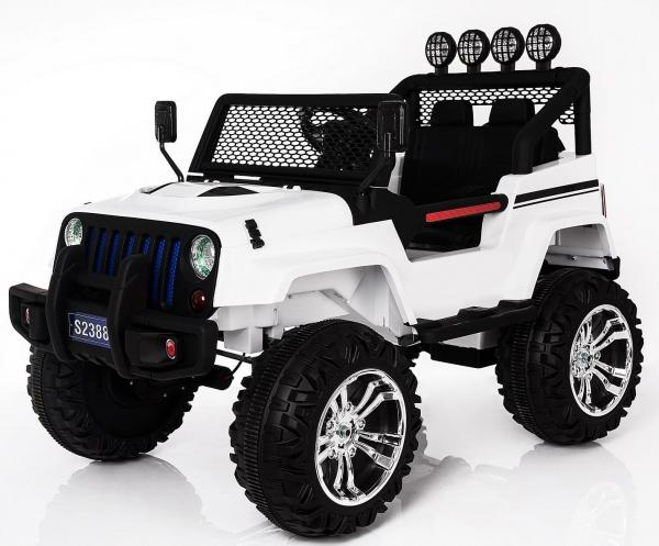 Kids electric cars - Wrangler 4WD white - front side view