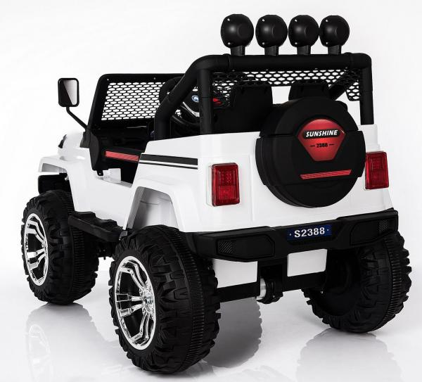 Kids electric cars - Wrangler 4WD white - rear side view