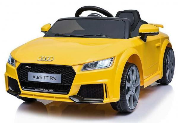 Licensed 12v Audi TT Ride on Car - Yellow-0