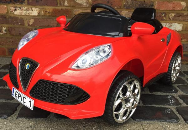Alfa Romeo 4C Spider Style Roadster 12V Ride on Car - Red-12647