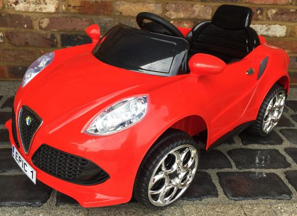 Alfa Romeo 4C Spider Style Roadster 12V Ride on Car - Red-0