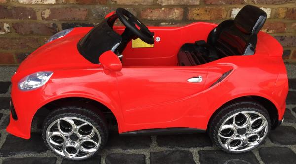 Alfa Romeo 4C Spider Style Roadster 12V Ride on Car - Red-12646