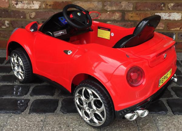 Alfa Romeo 4C Spider Style Roadster 12V Ride on Car - Red-12652