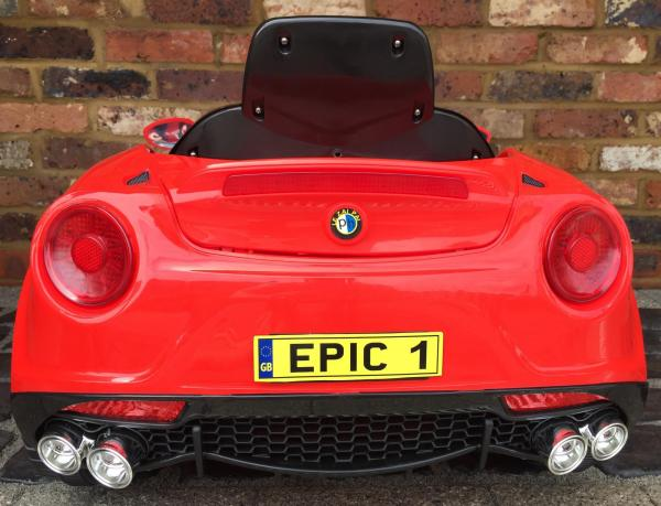 Alfa Romeo 4C Spider Style Roadster 12V Ride on Car - Red-12655