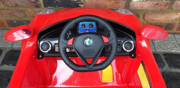 Alfa Romeo 4C Spider Style Roadster 12V Ride on Car - Red-12656