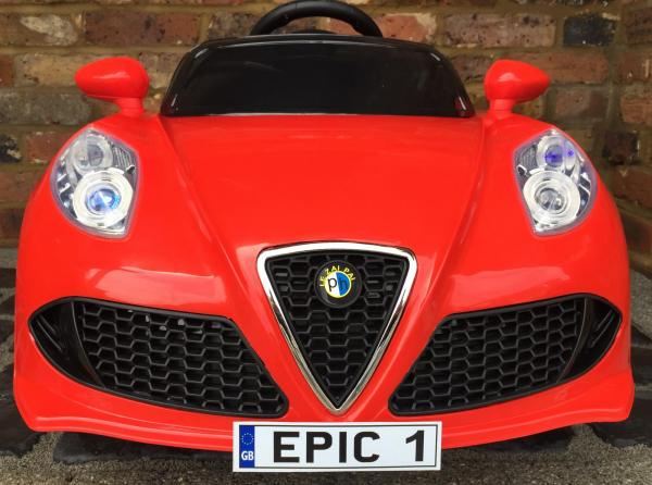 Alfa Romeo 4C Spider Style Roadster 12V Ride on Car - Red-12650