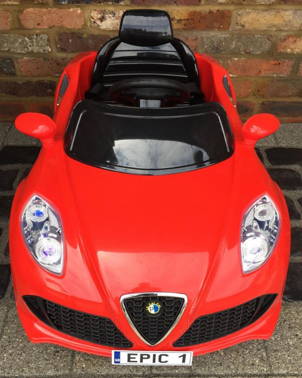 Alfa Romeo 4C Spider Style Roadster 12V Ride on Car - Red-12648
