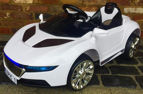 Kids R8 Spyder Style Roadster 12V Battery Electric Ride on Car - White-0