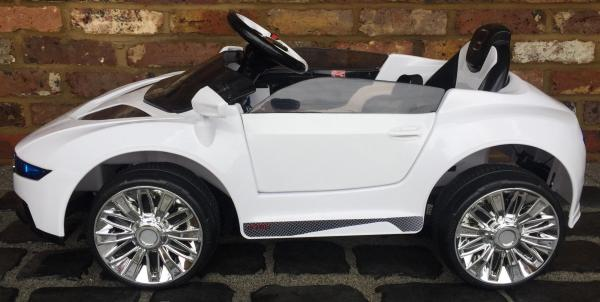 Kids R8 Spyder Style Roadster 12V Battery Electric Ride on Car - White-13118