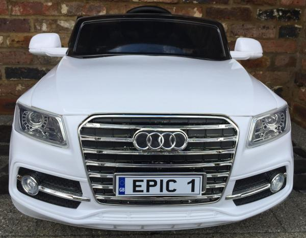 Audi Q7 Style Car 12v Battery / Electric Ride on Car White-12717