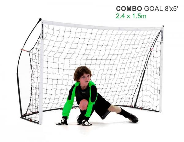 Quickplay Kickster Football Goal 8' x 5' and Rebounder System-12836