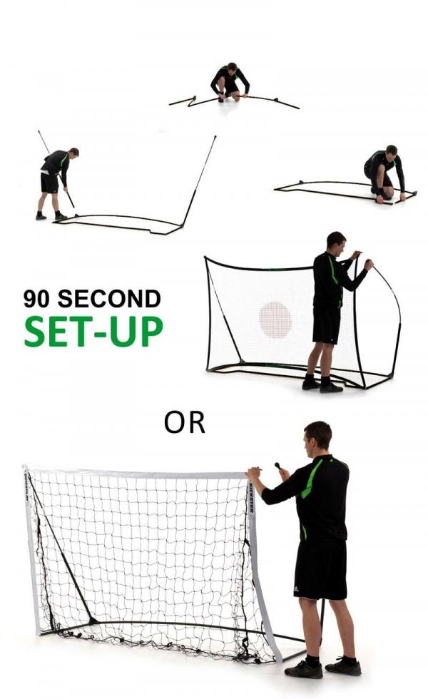 Quickplay Kickster Football Goal 8' x 5' and Rebounder System-12838