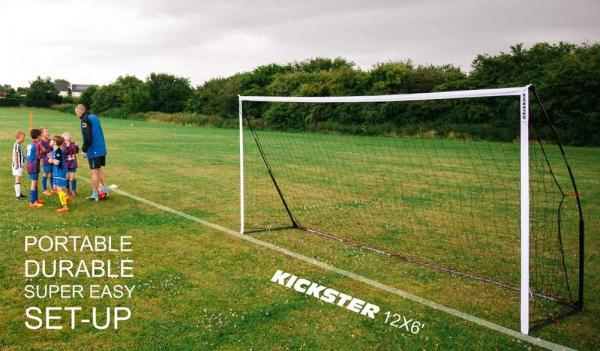 Quickplay Kickster Academy Ultra Portable Football Goal 12' x 6'-12782