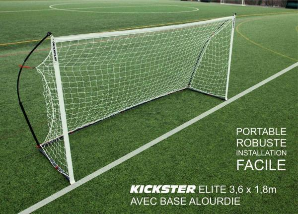 Quickplay Kickster Elite Portable Football Goal with Weighted Base 12' x 6'-12874