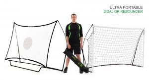 Quickplay Kickster Football Goal 8' x 5' and Rebounder SystemQuickplay Kickster Football Goal 8' x 5' and Rebounder System-0