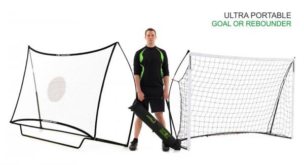 Quickplay Kickster Football Goal 8' x 5' and Rebounder System-0