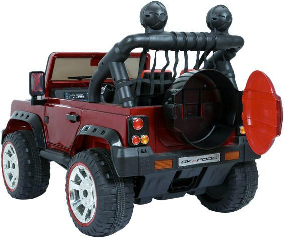 Kids Rocket Courage 2 Seater 12v Electric / Battery Ride on Jeep 4x4 Red-12644