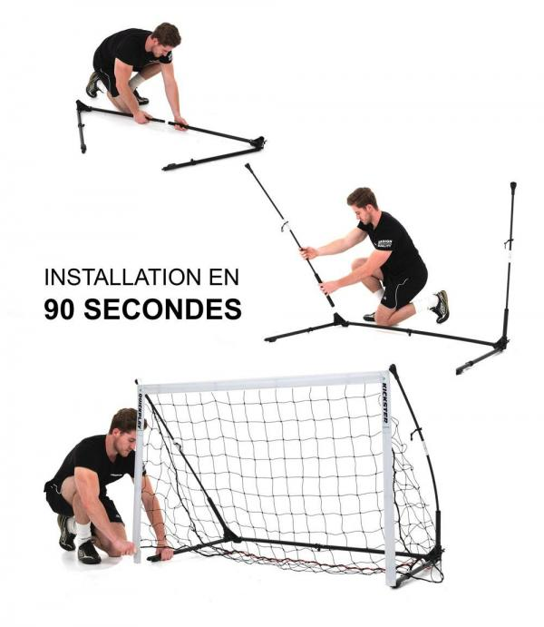 Quickplay Kickster Elite Portable Football Goal with Weighted Base 12' x 6'-12875
