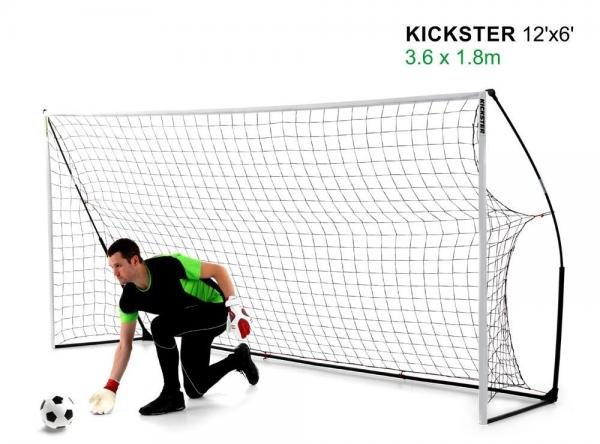 Quickplay Kickster Academy Ultra Portable Football Goal 12' x 6'-0