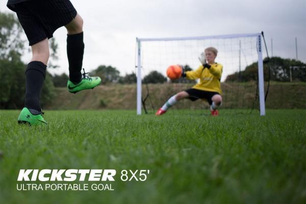 Quickplay Kickster Football Goal 8' x 5' and Rebounder System-12837