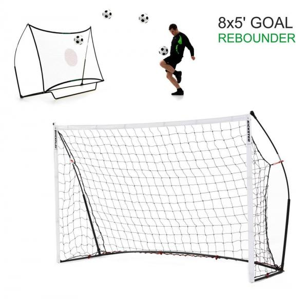 Quickplay Kickster Football Goal 8' x 5' and Rebounder System-12834