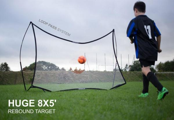 Quickplay Kickster Football Goal 8' x 5' and Rebounder System-12840