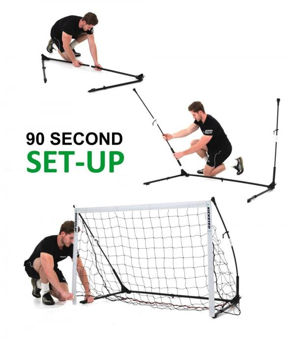Quickplay Kickster Elite Portable Football Goal with Weighted base 4.9' x 3'-12852
