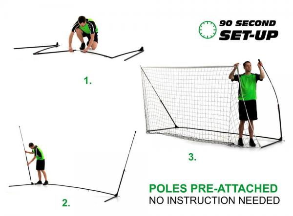Quickplay Kickster Academy Ultra Portable Football Goal 12' x 6'-12786