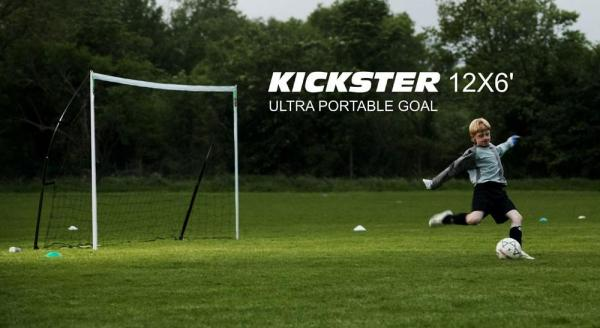 Quickplay Kickster Academy Ultra Portable Football Goal 12' x 6'-12785