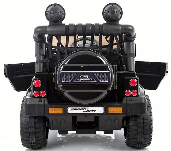Kids Rocket Courage 2 Seater 12v Electric / Battery Ride on Jeep 4x4 Black-12629