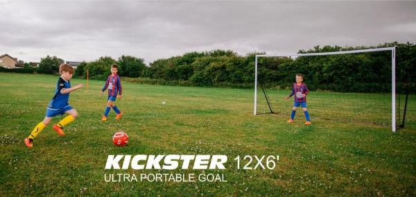 Quickplay Kickster Academy Ultra Portable Football Goal 12' x 6'-12784