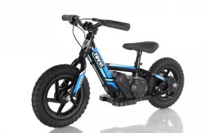"Revvi 12"" Kids Electric / Lithium Battery Dirt Bike - 24v Motorbike Blue-0"