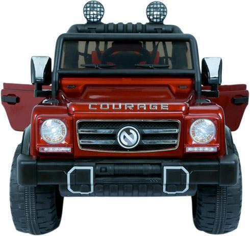 Kids Rocket Courage 2 Seater 12v Electric / Battery Ride on Jeep 4x4 Red-12645