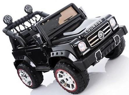 Kids Rocket Courage 2 Seater 12v Electric / Battery Ride on Jeep 4x4 Black-12633