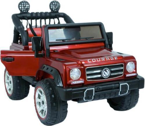 Kids Rocket Courage 2 Seater 12v Electric / Battery Ride on Jeep 4x4 Red-0