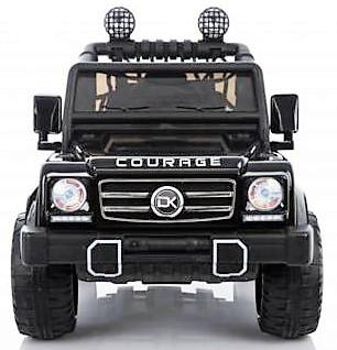 Kids Rocket Courage 2 Seater 12v Electric / Battery Ride on Jeep 4x4 Black-12630