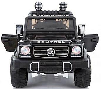 Kids Rocket Courage 2 Seater 12v Electric / Battery Ride on Jeep 4x4 Black-12632